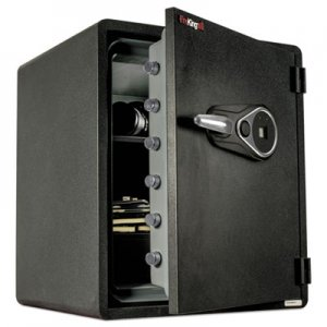 FireKing One Hour Fire and Water Safe w/Biometric Fingerprint Lock, 2.14 cu. ft, Graphite FIRKY19151GRFL KY1915-1GRFL