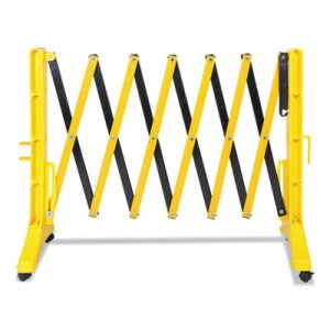 "Tatco Expandable Plastic Barrier Gate, 13"" x 16 1/2"" - 138"" x 41"", Yellow/Black TCO25940 25940"
