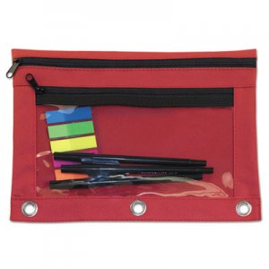 Advantus Binder Pouch with PVC Pocket, 9 1/2 x 7, Red, 6/Pack AVT94037 94037