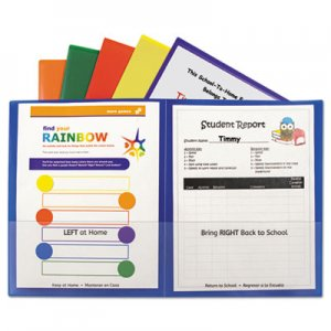 C-Line Classroom Connector Folders, Assorted, 6/Pk CLI32010 32010