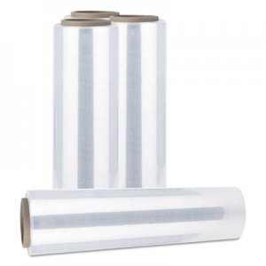 "Genpak Handwrap Stretch Film, 12"" x 1500 ft Roll, 20mic (80-Gauge), 4/Carton UNV121580"
