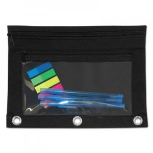 Advantus Binder Pouch with PVC Pocket, 9 1/2 x 7, Black, 6/Pack AVT94036 94036