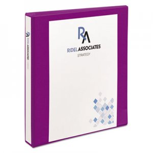 "Avery Durable View Binder with DuraHinge and Slant Rings, 3 Rings, 1"" Capacity, 11 x 8.5, Purple AVE17294 17294"