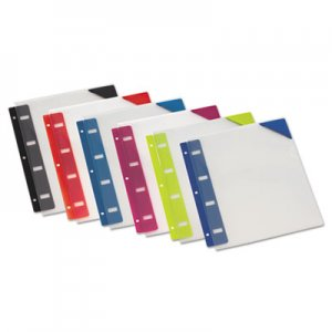 Oxford Retractable Binder Pocket, 1/4 x 9, Assorted Colors, 6/Pack OXF14360 14360