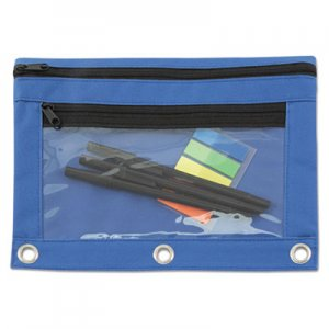 Advantus Binder Pouch with PVC Pocket, 9 1/2 x 7, Blue, 6/Pack AVT94038 94038