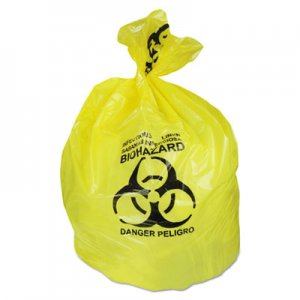 Heritage Healthcare Biohazard Can Liners, 20-30 gal, 1.3mil, 30 x 43, Yellow, 200/CT HERA6043PY A6043PY