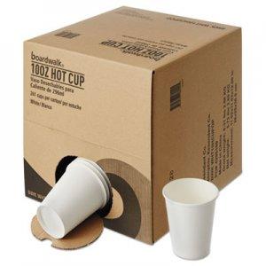 Boardwalk Convenience Pack Paper Hot Cups, 10 oz, White, 261/Carton BWKWHT10HCUPOP