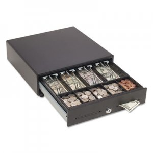 SteelMaster Touch Release Locking Cash Drawer w/Spring-Loaded Bill Weights, Black MMF2251046T04 2251046T04