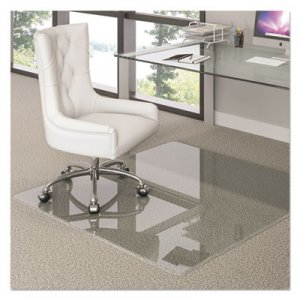 deflecto Premium Glass All Day Use Chair Mat - All Floor Types, 44 x 50, Rectangular, Clear DEFCMG70434450 CMG70434450