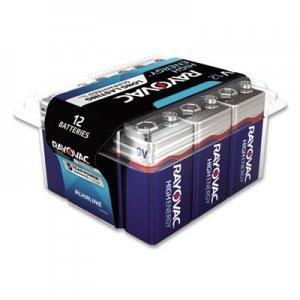 Rayovac Alkaline Battery, 9V, 12/Pack RAYA160412PPK A1604-12PPK