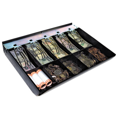 SteelMaster Cash Drawer Replacement Tray, Black, ABS Plastic, 12 1/2 x 13 x 2 3/4 MMF2252843T04 2252843T04