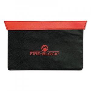 MMF Industries Fire-Block Document Portfolio, 15 1/2 x 10 x 1/2, Red/Black MMF2320421D0407 2320421D0407