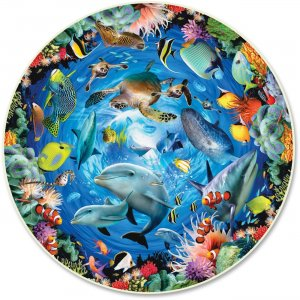 A Broader View Ocean View 500-piece Round Puzzle 383 ABW383