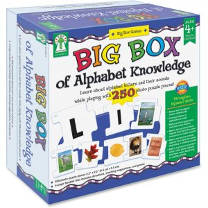 Carson-Dellosa Big Box of Alphabet Knowledge Board Game 840015 CDP840015