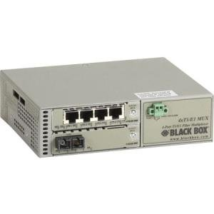 Black Box T1/E1 to Fiber Mux, Single-Mode Duplex SC, 30 km MT1430A-SM-SC