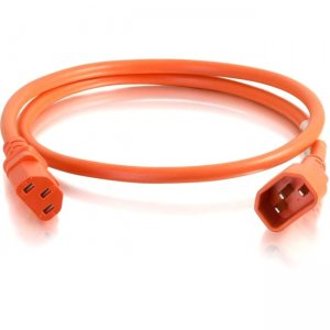 C2G 5ft 14AWG Power Cord (IEC320C14 to IEC320C13) - Orange 17548