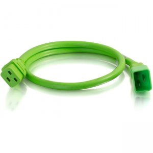 C2G 1ft 12AWG Power Cord (IEC320C20 to IEC320C19) - Green 17711