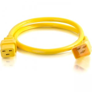 C2G 2ft 12AWG Power Cord (IEC320C20 to IEC320C19) - Yellow 17718