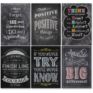 Creative Teaching Press Inspire U Chalk Poster 6pk 7425 CTC7425