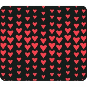 OTM Classic Prints Black Mouse Pad, Falling Red Hearts OP-MPV1BM-CLS-07