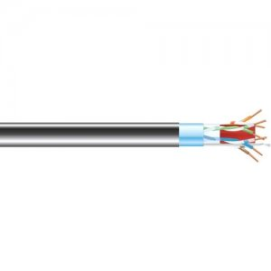 Black Box CAT6A 650-MHz Bulk Cable - Shielded, F/UTP, PVC, Solid, Black, 1000 ft C6ABC50S-BK-1000