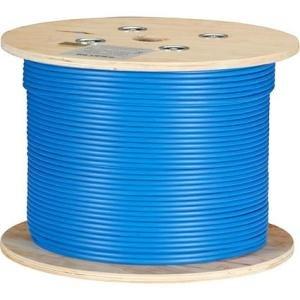 Black Box CAT6A 500-MHz Bulk Cable - F/UTP, Plenum, Solid, Blue, 1000-ft C6ABC51S-BL-1000