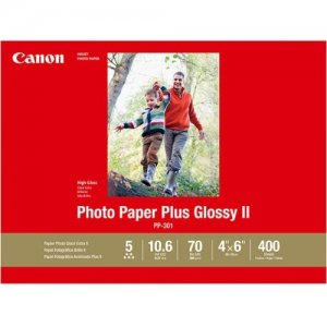 Canon Photo Paper Plus Glossy II - - 4x6 (400 Sheets) 1432C007 PP-301