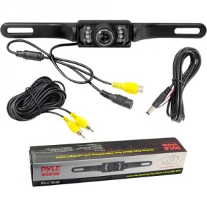 Pyle License Plate Mount Rear View Camera with Night Vision PLCM10