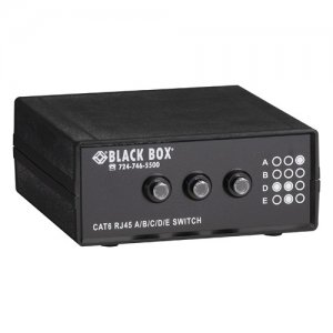 Black Box 4-to-1 CAT6 10-GbE Manual Switch (ABCD) SW1032A