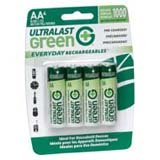 UltraLast Green Everyday Rechargeables General Purpose Battery ULGED4AA