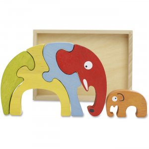 BeginAgain Elephant Family Puzzle A1204 BGAA1204