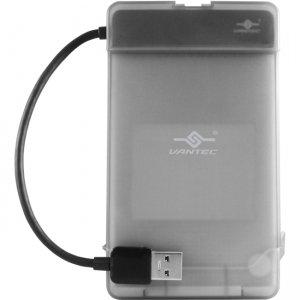"Vantec USB 3.0 to 2.5"" SATA Hard Drive Adapter with Case CB-STU3-2PB"