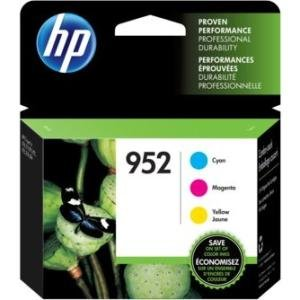 HP 3-Pack Cyan/Magenta/Yellow Original Ink Cartridges N9K27AN#140 952