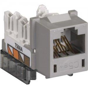 Black Box GigaBase CAT5e Jack, Universal Wiring, Single-Pack, Gray FM923