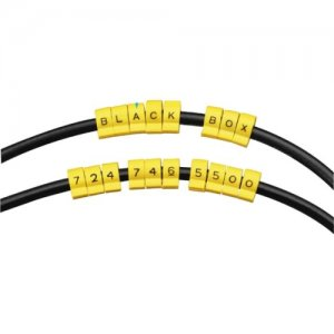 Black Box Snap-Lock Cable IDs, Alpha Marker Letter A, 10-Pack CM00A