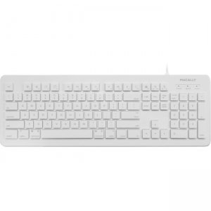 Macally 104 Key Wired USB Keyboard for Mac and PC MKEYX