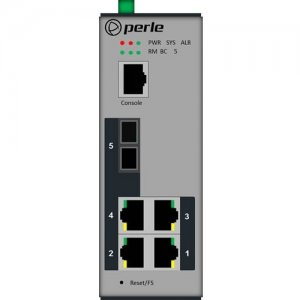 Perle IDS-205G - Managed Industrial Ethernet Switch with Fiber 07012740 IDS-205G-TSD160