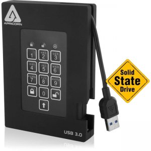 Apricorn Aegis Padlock Fortress - USB 3.0 Solid State Drive A25-3PL256-S4000F