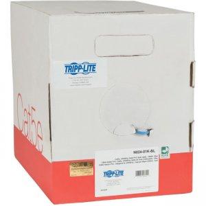 Tripp Lite Cat5e 350 MHz Bulk Solid-Core Plenum-Rated PVC Cable, Blue, 1000 ft N024-01K-BL