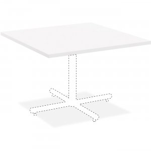 Lorell Hospitality White Laminate Square Tabletop 99859 LLR99859