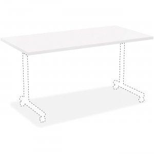 Lorell White Laminate Rectangular Invent Tabletop 99862 LLR99862