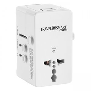 Travel Smart All-In-One Adapter with USB Port TS240AP