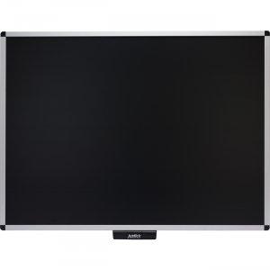 "Justick 48"" x 36"" Premium Aluminum Frame Bulletin Board Black 02563"