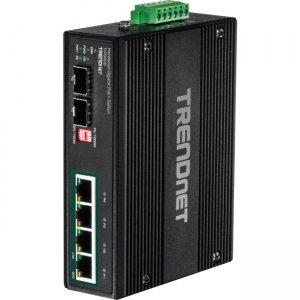 TRENDnet 6-Port Industrial Gigabit PoE+ DIN-Rail Switch 12 - 56 V TI-PG62B