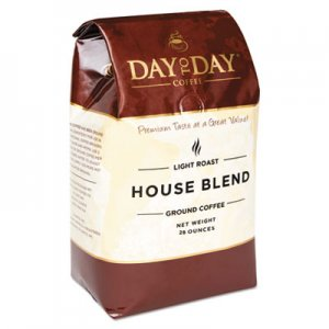 Day to Day Coffee 100% Pure Coffee, House Blend, Ground, 28 oz Bag, 3/Pack PCO33750