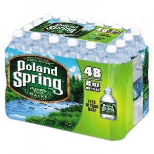 Poland Spring Natural Spring Water, 8 oz Bottle, 48 Bottles/Carton NLE1098091 1098091