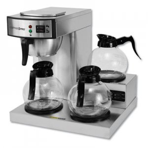 Coffee Pro Three-Burner Low Profile Institutional Coffee Maker, Stainless Steel, 36 Cups OGFCPRLG CPRLG