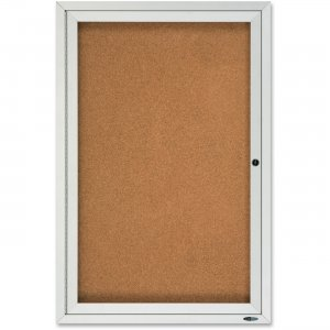 Quartet Enclosed Cork Bulletin Board for Outdoor Use 2121 QRT2121