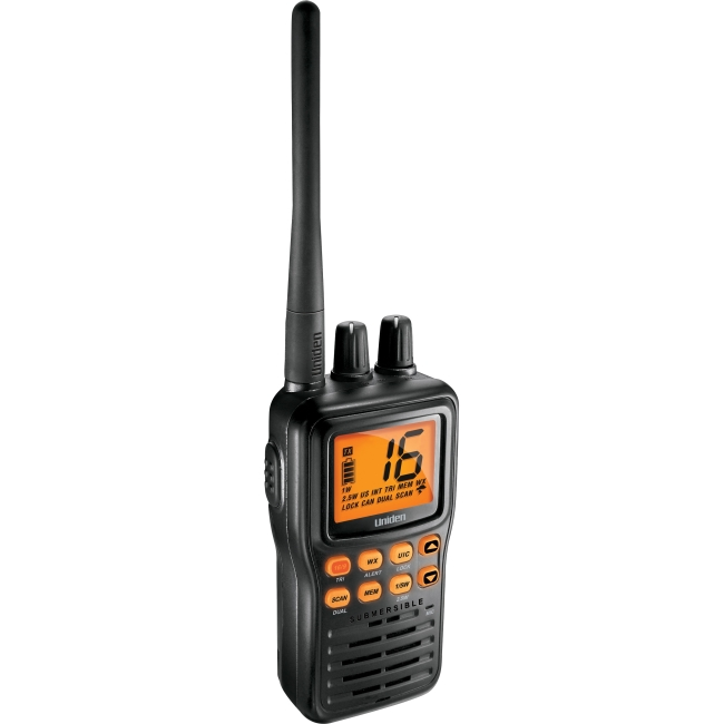 Uniden Submersible Handheld Two-Way VHF Marine Radio MHS75
