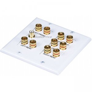 Monoprice 2-Gang 5.1 Surround Sound Distribution Wall Plate 4012